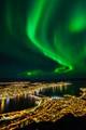 Northern lights above Tromsø, Norway