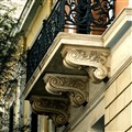 Old marble Balcony