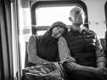 Taken on a bus in Seattle .