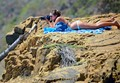 Bikini Photographer on Central California Coast Cliff