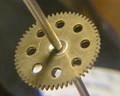Gear on axle