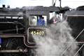 Steam train in York, UK