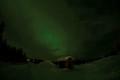 Sewdish Hut in the Aurora Arctic Light