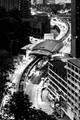 Bird view of aerial tram at Kuala Lumpur