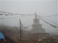 Stupa in the mist
