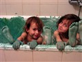 We painted the bath!
