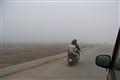Dwarka riding into a fog