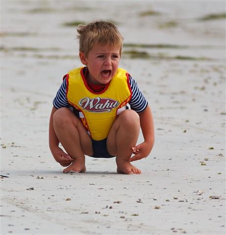 Boy on Middleton Beach