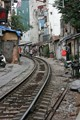 Train Tracks Downtown Hanoi