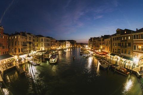 The Grand Canal as seen from the Ponte di Rialto in Venice