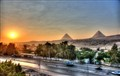 Sunrise over Giza Pyramids