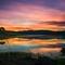 Dawn sky water