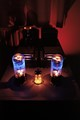 Tube amplifier at night