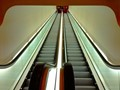 Escalator, repeating its steps