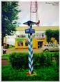 A milepost on Valdai, RF.