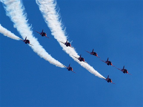Red Arrows At RAF Akrotiri