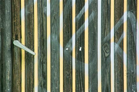 The striped door