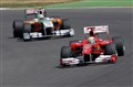 Ferrari in front