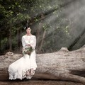 Bride on a Log