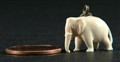 Hand-carved Ivory elephant