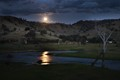 Moonrise over the Mitta River