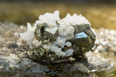 Pyrite and Calcite specimen