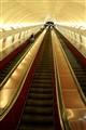 Prague metro stairway