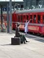 Leaving a Swiss city