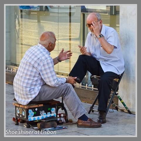Shoe shiner at Lisbon