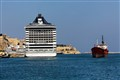 MSC SPLENDIDA grand harbor Valletta