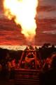 Flame against the sunrise