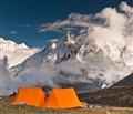 Two Tents at Dharamshala (Larke Phedi) Camp Site, 4,460 m