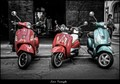Three Vespas