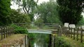 footbridge at broom, hertfordshire, u.k.