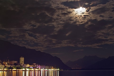 Moonlight over Montreux
