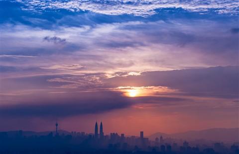 Clouds over Kuala Lumpur