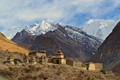 Old Tibetan Village in Front of the Himalayas