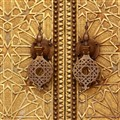 Moroccan palace doorknobs