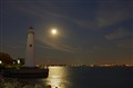 Light House in full moon