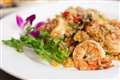 Basil mango shrimp fried rice.