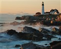 dawn at portland headlight