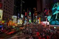 A Busy Night along Times Square