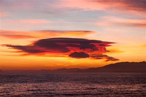 Mazarrón Bay sunset