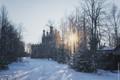 Winter morning at the church