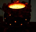 It is a traditional lamp covered inside earthen pot with air vents, creating a great lighting. This lamp is specifically used to worship Goddess Amba (or Durga) during 9 days Navratri festival in Hindu Tradition