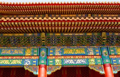 Architectural detail in Forbidden City