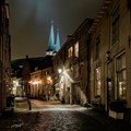 A rainy night in the city of Deventer