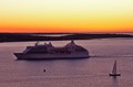 Seven Seas Navigator..500 capacity.dawn arrival in Nova Scotia