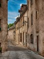 A quiet alley in the beautiful city of Beaune in France