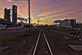 Sunset, Train Siding in Cairns, Northern Australia